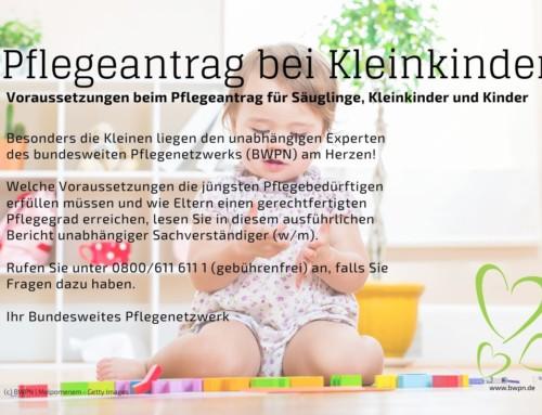 Pflegeantrag bei Kleinkindern
