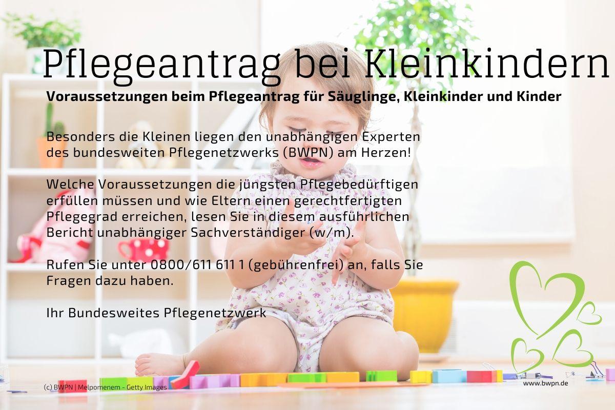 Pflegeantrag und Pflegegrade bei Kleinkindern
