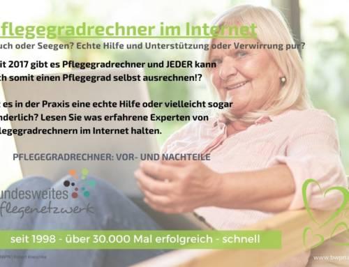 Pflegegradrechner im Internet