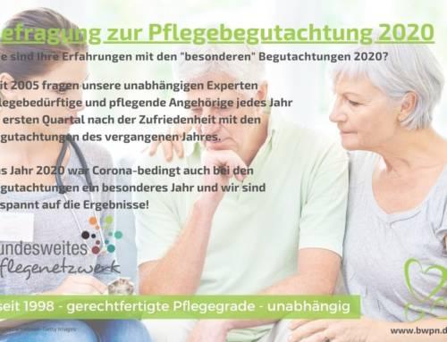 Befragung zur Pflegebegutachtung 2020